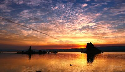 Sunset & Sunrise at Mono Lake,CA